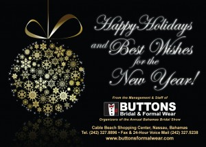 Xmas Card from  Bridal Show & Buttons