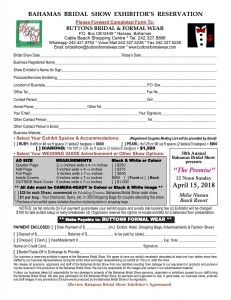 Exhibitors Reservation Form 2018