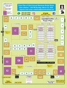 2020 Bahamas Bridal Show Floor Plan